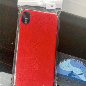 Red leather iPhone XR case